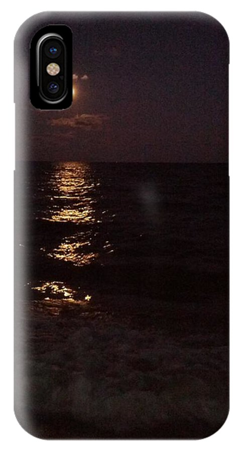 Night Waterscape IPhone X Case featuring the photograph Darkness No Longer... by Billy Lane