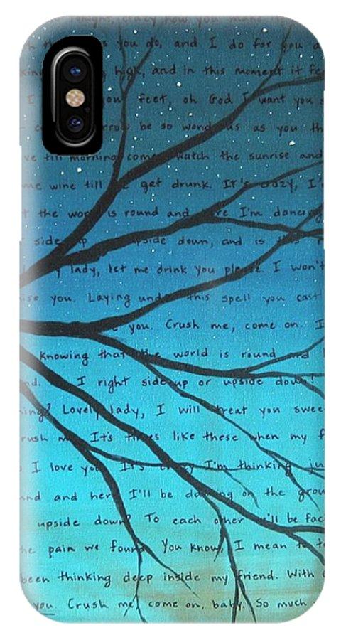 Dave Matthews Band Crush Lyric Art - Blue IPhone X Case