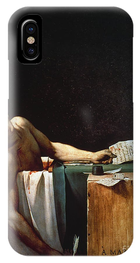 1793 IPhone X Case featuring the photograph David: The Death Of Marat by Granger