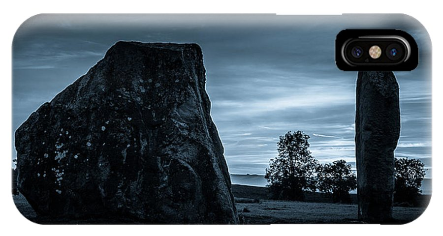 Avebury IPhone X Case featuring the photograph Dawn At Avebury Stone Circle by Peter Noyce