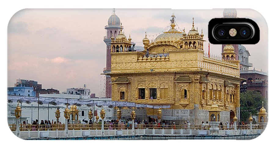 Golden Temple IPhone X Case featuring the photograph Dawn At Golden Temple by Devinder Sangha