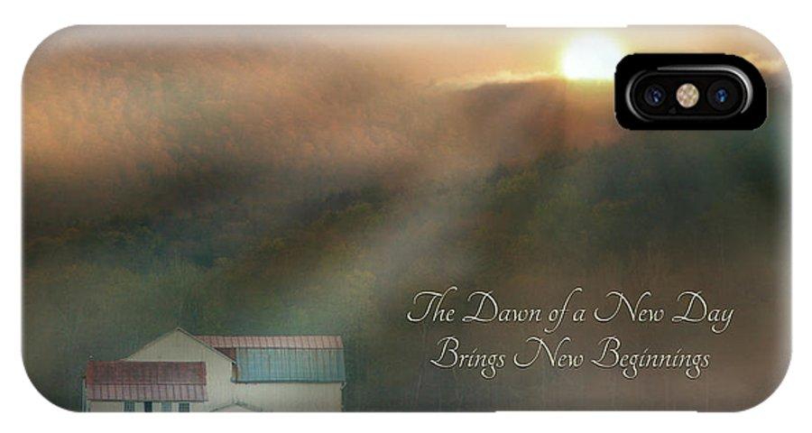 Barn IPhone X Case featuring the photograph Dawn by Lori Deiter