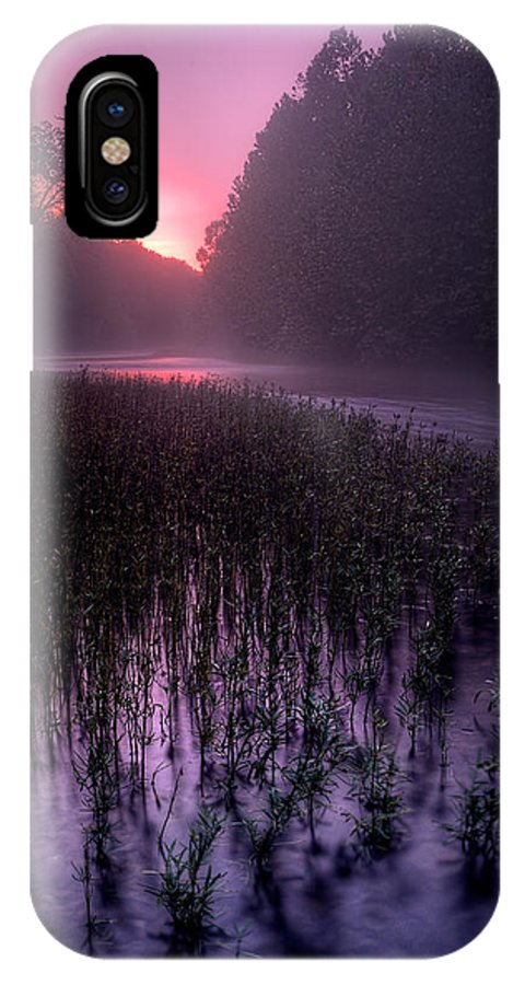 2012 IPhone X Case featuring the photograph Dawn Mist by Robert Charity