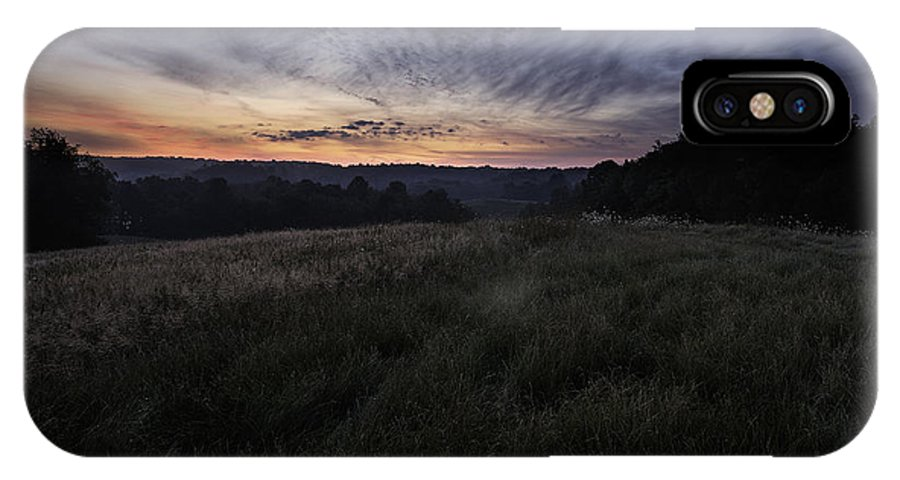 Dawn IPhone X Case featuring the photograph Dawn Over The Hills by Dale Kincaid