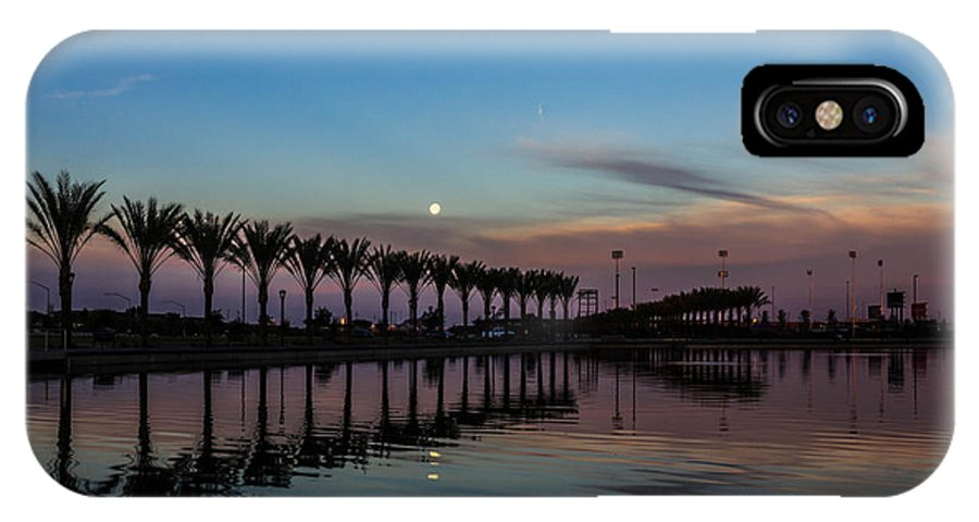 Trees IPhone X Case featuring the photograph Dawn's Reflection by Joseph Escarzaga