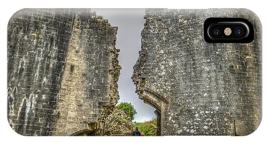 Corfe IPhone X Case featuring the photograph Day Among The Ruins by Zen Williston