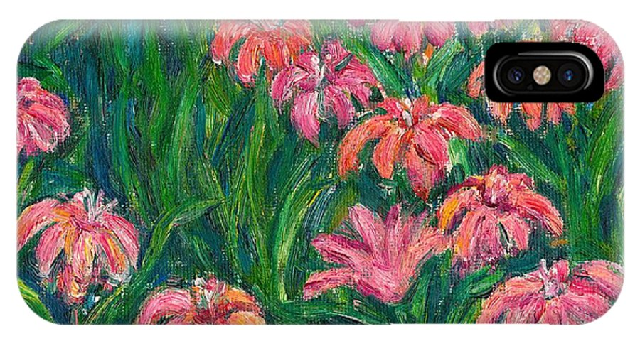 Lily Paintings IPhone X Case featuring the painting Day Lily Rush by Kendall Kessler