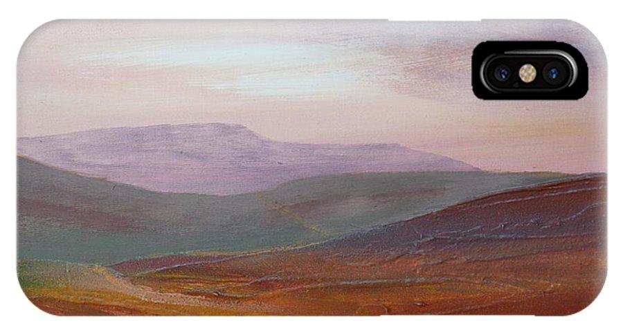 Landscape IPhone X / XS Case featuring the painting Daybreak by Hazel Millington