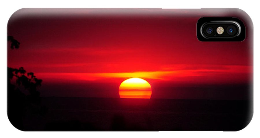 Sunrise IPhone X Case featuring the photograph Daybreak by Patti Raine