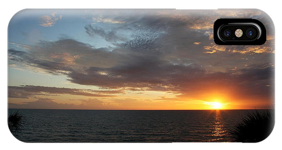 Sunset IPhone X Case featuring the photograph Days End Beauty by Christiane Schulze Art And Photography