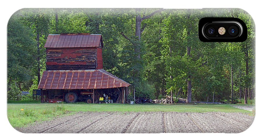 Tobacco Barn IPhone X Case featuring the photograph Days Gone By--tobacco Barn Series by Suzanne Gaff