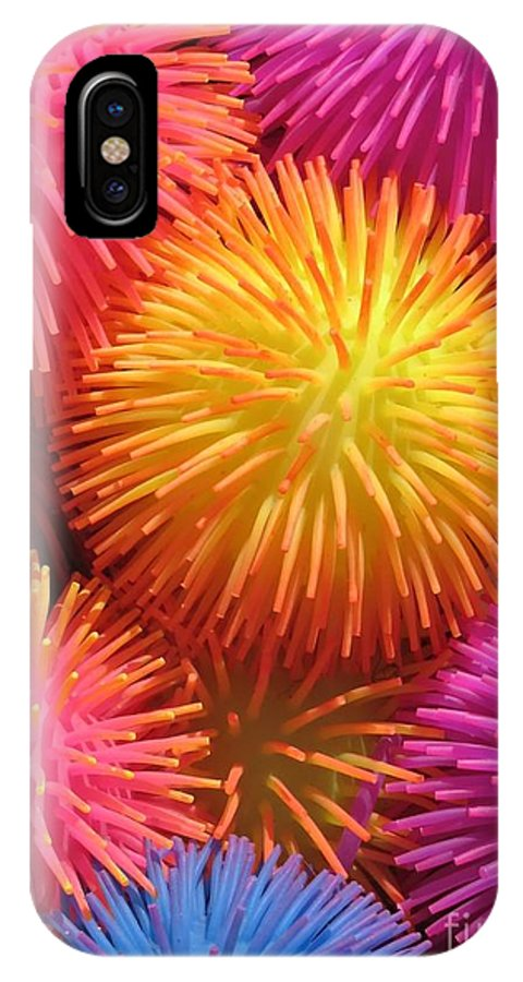 Abstract IPhone X Case featuring the photograph Dazzlers by Ann Horn