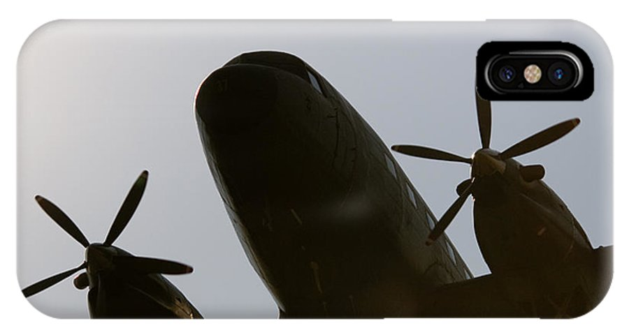 Douglas C-47tp Turbo Dakota IPhone X Case featuring the photograph Dc Shadow by Paul Job