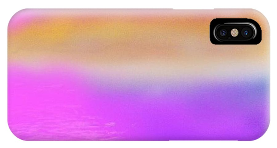 Morning.sky.sea.fog.coilors.mounts.water.reflection.sun IPhone X Case featuring the digital art Dead Sea .morning by Dr Loifer Vladimir