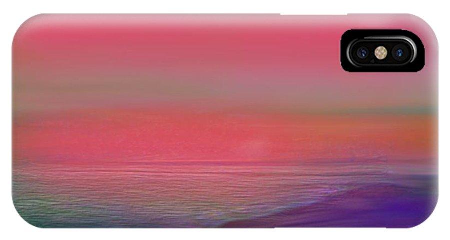 Sunrise IPhone X Case featuring the digital art Dead Sea. Sunrise. by Dr Loifer Vladimir