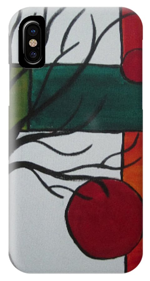 Tree IPhone X Case featuring the painting Dead Tree by Nydia Williams