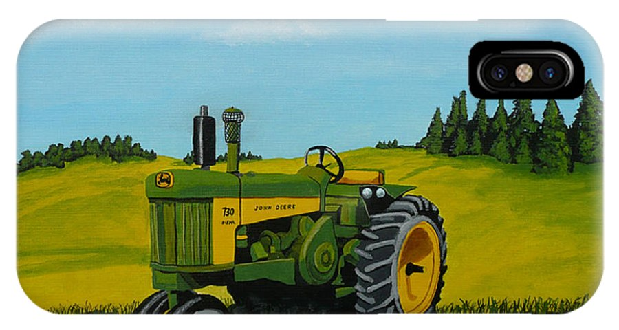 John Deere IPhone X / XS Case featuring the painting Dear John by Anthony Dunphy
