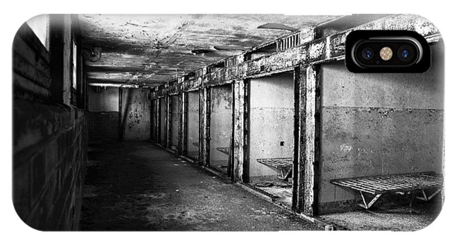 Eastern State Penitentiary IPhone X Case featuring the photograph Death Row by John Rizzuto