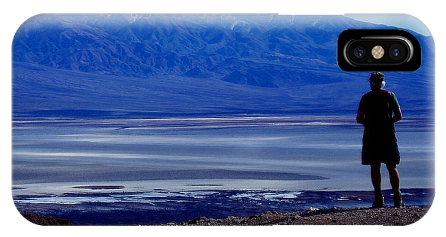 IPhone X Case featuring the photograph Death Valley National Park Overview Of Badwater Basin by A Wanderers Photography