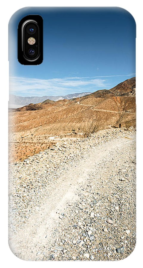 Landscape IPhone X Case featuring the photograph Death Valley Road by Alyaksandr Stzhalkouski
