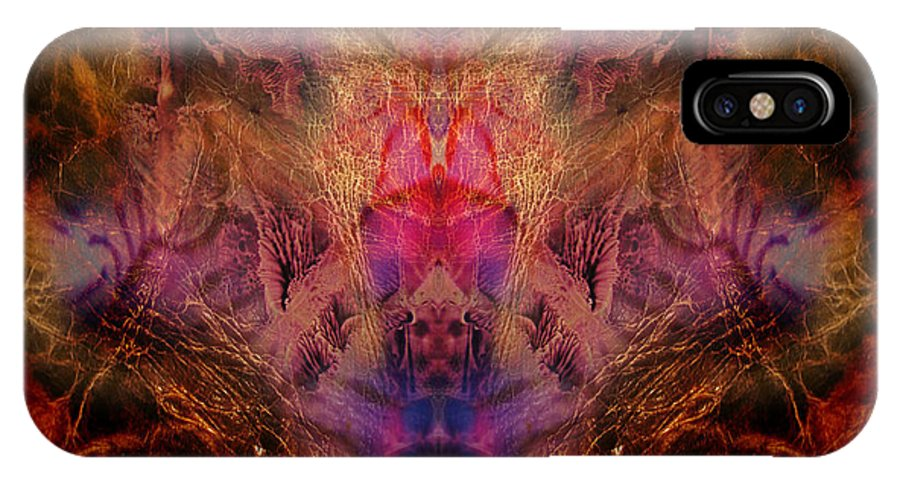 Digital IPhone Case featuring the digital art Decalcomaniac Mirror by Otto Rapp