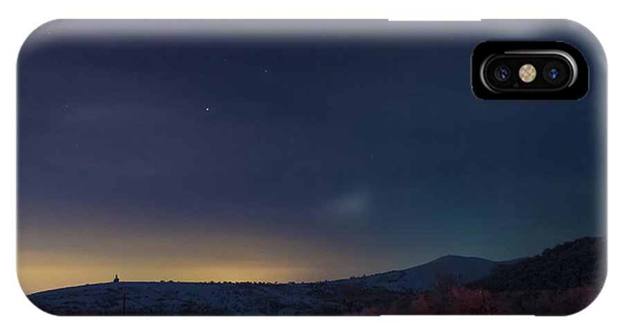December IPhone X Case featuring the photograph December Nightscape by Vlad Costras