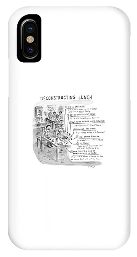 Sandwiches IPhone X Case featuring the drawing Deconstructing Lunch by Roz Chast