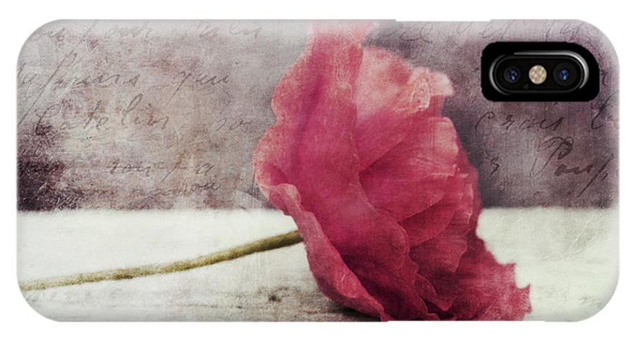 Poppy IPhone X Case featuring the photograph Decor Poppy Horizontal by Priska Wettstein