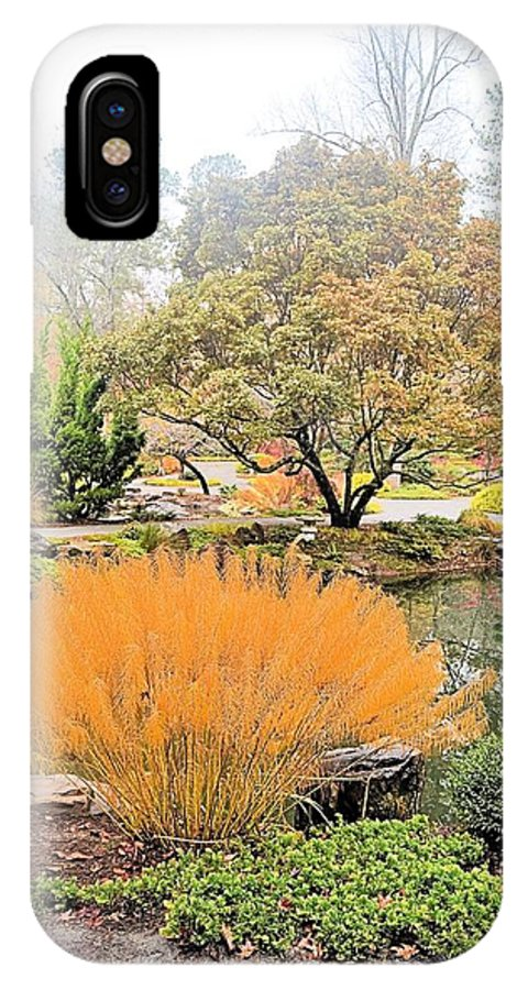 Garden IPhone X Case featuring the photograph Decorative Pond by James Potts