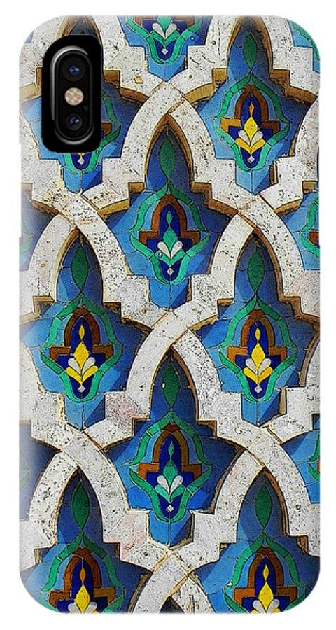 Tiles IPhone X Case featuring the painting Decorative Tiles On A Mosque by Anthony Dalton