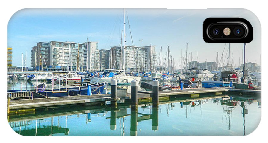 Harbor Prints IPhone X Case featuring the photograph Deep Blue by Sharon Lisa Clarke