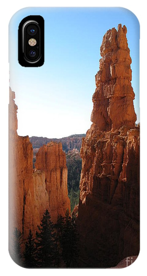 Canyon IPhone X Case featuring the photograph Deep Down - Bryce Canyon by Christiane Schulze Art And Photography