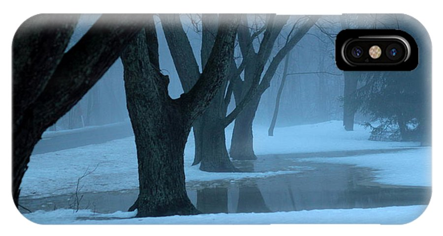Fog IPhone X Case featuring the photograph Deep Footings by Carol Estes