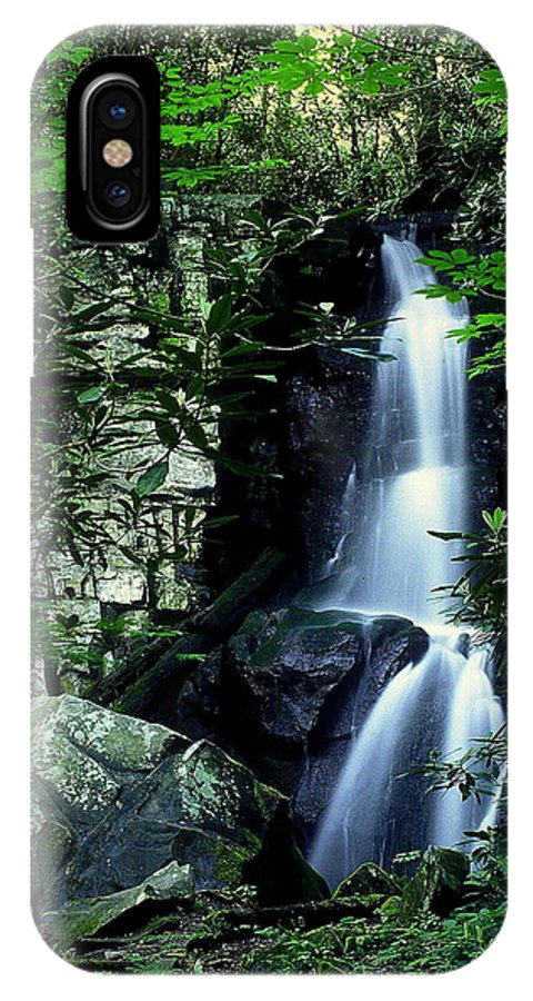 Fine Art IPhone X Case featuring the photograph Deep In The Mountains by Rodney Lee Williams