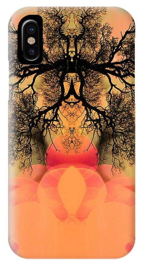 Abstracts IPhone X Case featuring the photograph Deep Within Your Sacred Space by Jan Amiss Photography