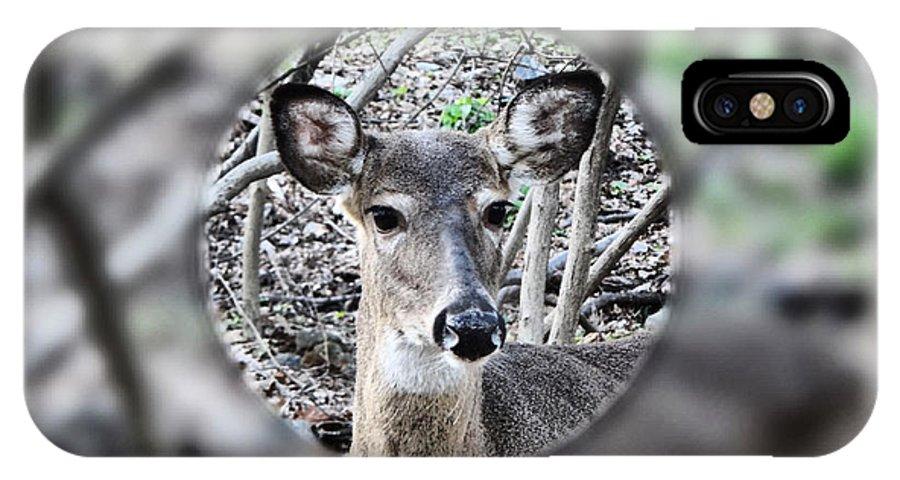 Deer IPhone X Case featuring the photograph Deer Hunter's View by Russ Considine