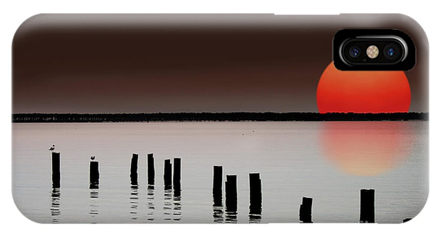 Island IPhone X Case featuring the photograph Deer Island Sunset by Mike Nellums
