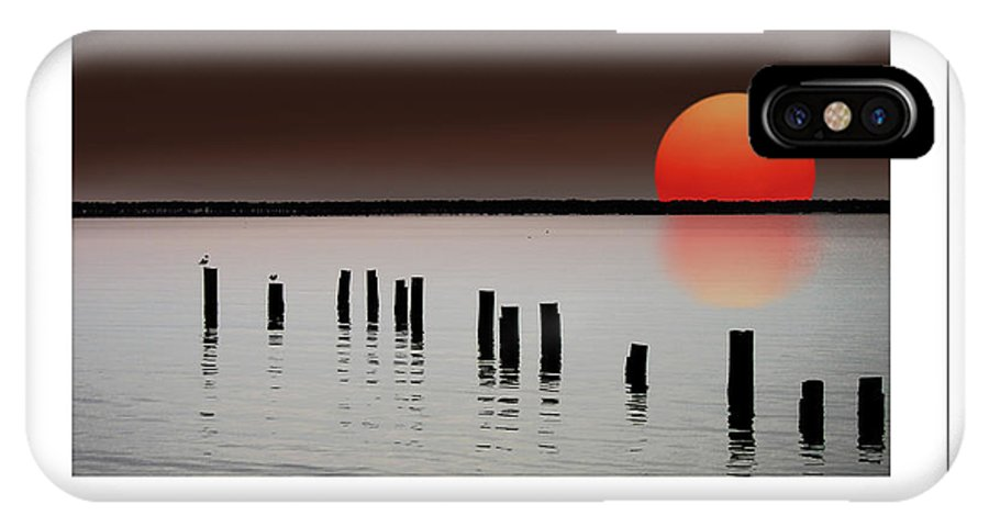 Island IPhone X Case featuring the photograph Deer Island Sunset Poster by Mike Nellums