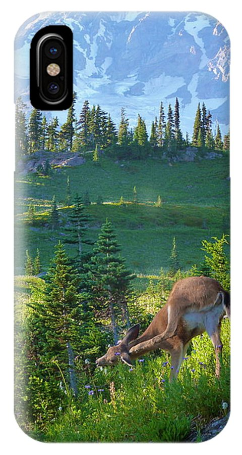 Mountain IPhone X Case featuring the photograph Deer Mountain by Rylee Stearnes