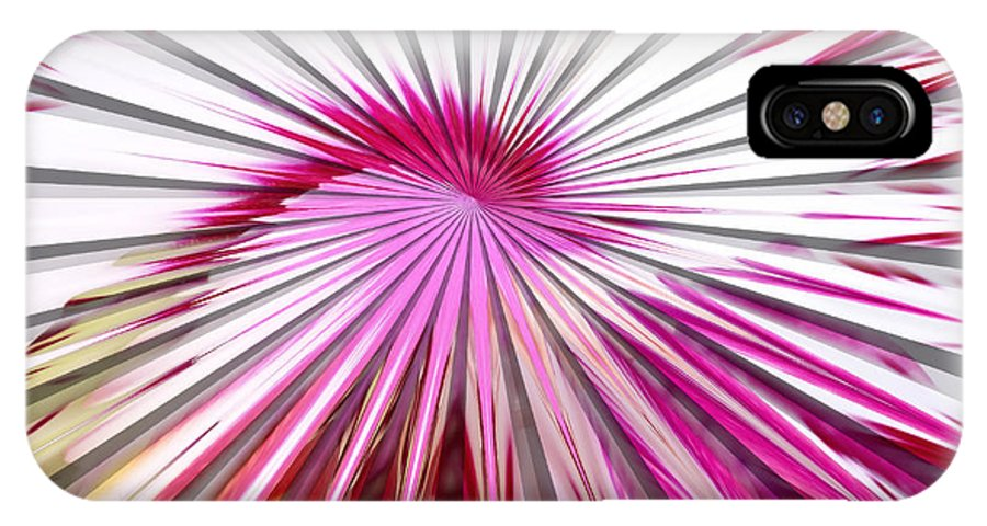 Delicate Orchid Blossom - Abstract IPhone X Case featuring the digital art Delicate Orchid Blossom - Abstract by Liane Wright