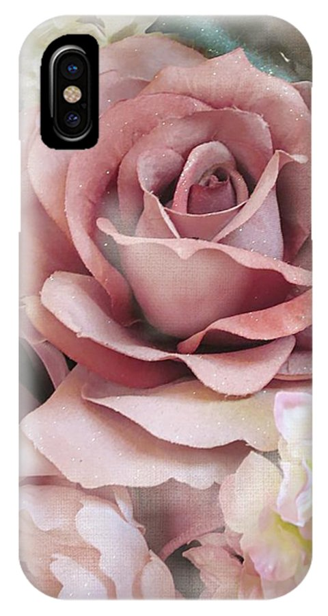 Rose IPhone X Case featuring the digital art Delicate Rose by Kelly Schutz