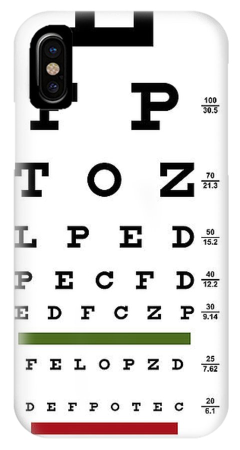 Deluxe Vision Test Chart Iphone X Case For Sale By Daniel Hagerman