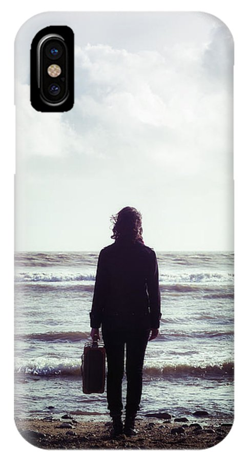 Woman IPhone X Case featuring the photograph Departure by Joana Kruse