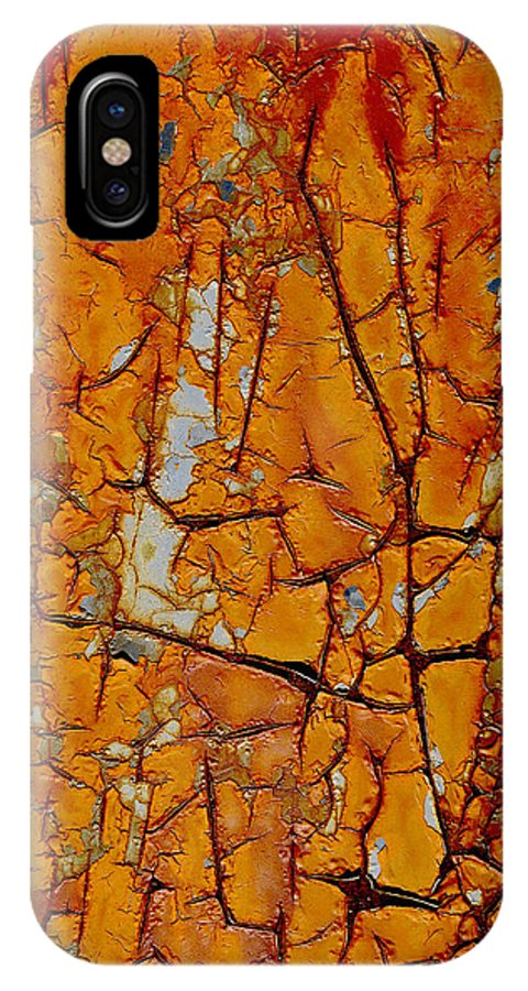 Abstract IPhone X Case featuring the photograph Deranged by Angelo Andiario