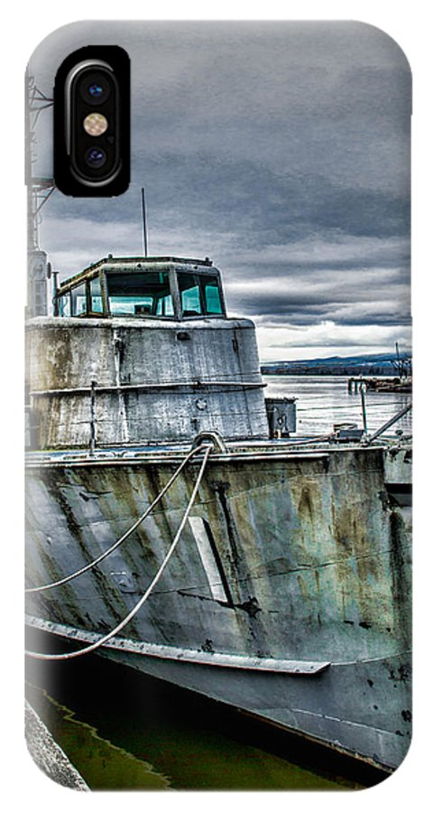 Ship IPhone X Case featuring the photograph Derelict Navy Vessel by Paul Haist