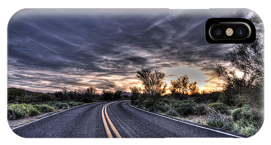 Arizona IPhone X Case featuring the photograph Desert Drive by Anthony Citro