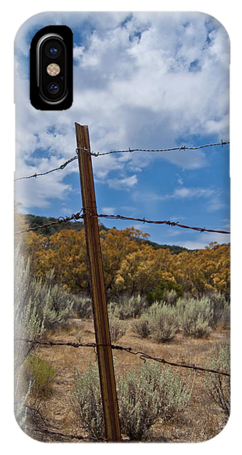 Desert IPhone X Case featuring the photograph Desert Fence by Jeffrey Woodley