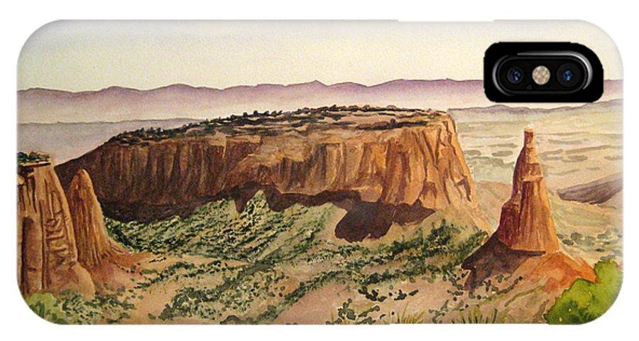 Desert IPhone X Case featuring the painting Desert Haze by Julia RIETZ