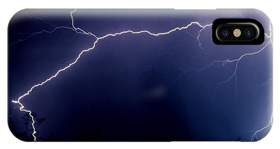 Lightning IPhone X Case featuring the photograph Desert In The Dark by J L Woody Wooden