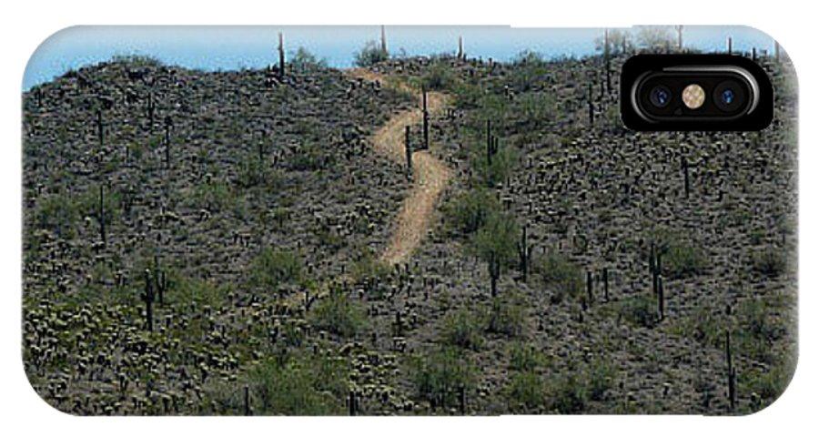 Desert IPhone X Case featuring the photograph Desert Love by J Shawn Conrey